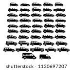 set of car silhouettes  black... | Shutterstock .eps vector #1120697207