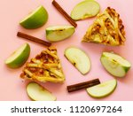 traditional apple pie made of... | Shutterstock . vector #1120697264