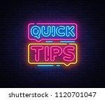quick tips neon sign vector... | Shutterstock .eps vector #1120701047