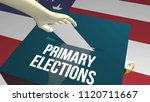 primary elections ballot 3d...   Shutterstock . vector #1120711667