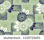 seamless geometrical floral... | Shutterstock .eps vector #1120723691