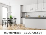 scandinavian style kitchen... | Shutterstock . vector #1120726694