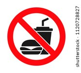 no food or drink allowed sign ... | Shutterstock .eps vector #1120728827