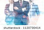 unrecognizable business leaders.... | Shutterstock . vector #1120730414
