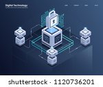 concept of big data processing  ... | Shutterstock .eps vector #1120736201