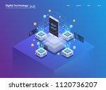 isometric design concept... | Shutterstock .eps vector #1120736207