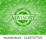 advisory green mosaic emblem | Shutterstock .eps vector #1120737725