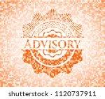 advisory abstract orange mosaic ... | Shutterstock .eps vector #1120737911