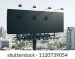 Empty Black Billboard On Brigh...