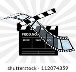 movie director clapperboard | Shutterstock . vector #112074359