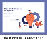fresh ideas landing page vector ...   Shutterstock .eps vector #1120745447