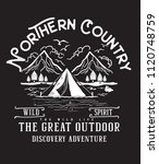northern country.camp style... | Shutterstock .eps vector #1120748759