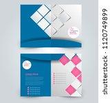 fold brochure template. flyer... | Shutterstock .eps vector #1120749899