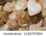 tumbled scitrine gem stone as ... | Shutterstock . vector #1120757804