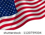 america national flag background | Shutterstock .eps vector #1120759334