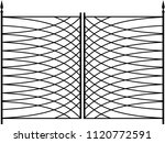 wrought iron gate  ornamental... | Shutterstock .eps vector #1120772591