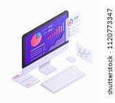 computer monitor isometric 3d ... | Shutterstock .eps vector #1120773347