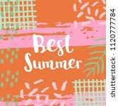 summer hand drawn lettering... | Shutterstock .eps vector #1120777784