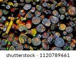 beautiful woodpile textured... | Shutterstock . vector #1120789661