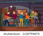 human characters during mission ... | Shutterstock .eps vector #1120794674
