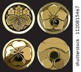 japanese icons vector. gold... | Shutterstock .eps vector #1120815467