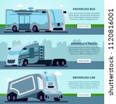 autonomous driverless vehicles... | Shutterstock .eps vector #1120816001