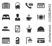 hotel icons. black scribble... | Shutterstock .eps vector #1120818431