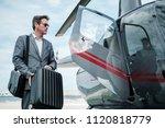 businessman near private... | Shutterstock . vector #1120818779