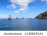 dockyard and arsenal in alanya  ... | Shutterstock . vector #1120829141