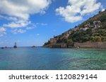 dockyard and arsenal in alanya  ... | Shutterstock . vector #1120829144