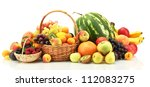 assortment of exotic fruits and ... | Shutterstock . vector #112083275