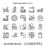 fitness  bold line icons. the... | Shutterstock .eps vector #1120832951
