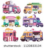 city fast food trucks and... | Shutterstock .eps vector #1120833134