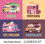 city fast food trucks and... | Shutterstock .eps vector #1120833137