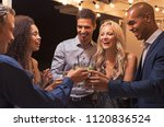 group of young multiethnic... | Shutterstock . vector #1120836524