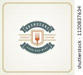 restaurant logo design vector... | Shutterstock .eps vector #1120837634