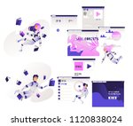 research and analysis of... | Shutterstock .eps vector #1120838024