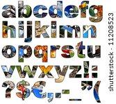 complete alphabet made of... | Shutterstock . vector #11208523