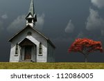 Scene Of An Old Church On A...