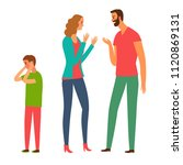 family conflict. angry parents...   Shutterstock .eps vector #1120869131