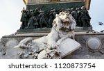 Sculpture Of A Resting Lion   ...