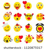 cute feeling in love emoticons | Shutterstock .eps vector #1120875317