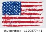 grunge flag of usa.vintage... | Shutterstock .eps vector #1120877441