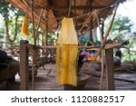 a silk production at the silk... | Shutterstock . vector #1120882517