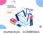 seo infographic  content for... | Shutterstock . vector #1120885661