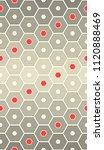 seamless hexagon design.... | Shutterstock .eps vector #1120888469