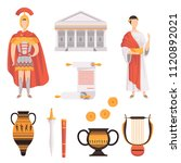 traditional symbols of ancient...   Shutterstock .eps vector #1120892021