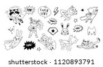 superhero cute hand drawn... | Shutterstock .eps vector #1120893791