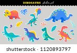 cute dinosaurs sticker... | Shutterstock .eps vector #1120893797