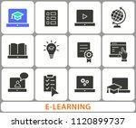 e learning distance education... | Shutterstock .eps vector #1120899737